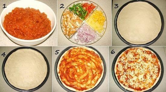 مكونات البيتزا المنزلية