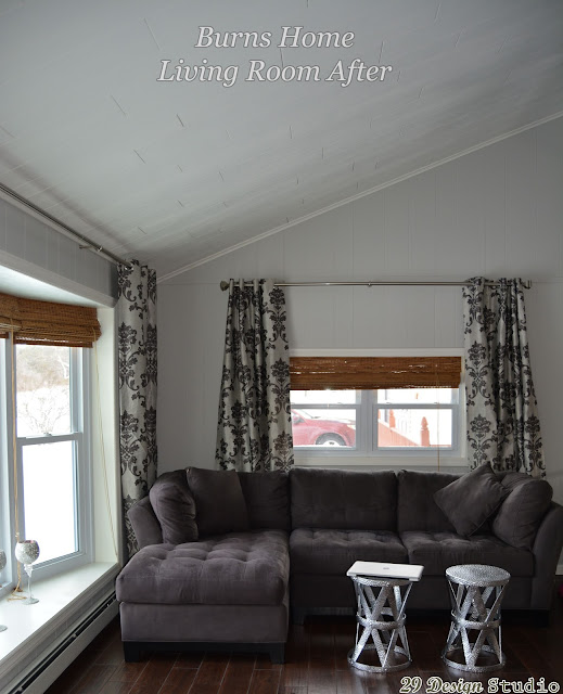 Living Room Painted Paneling Makeover