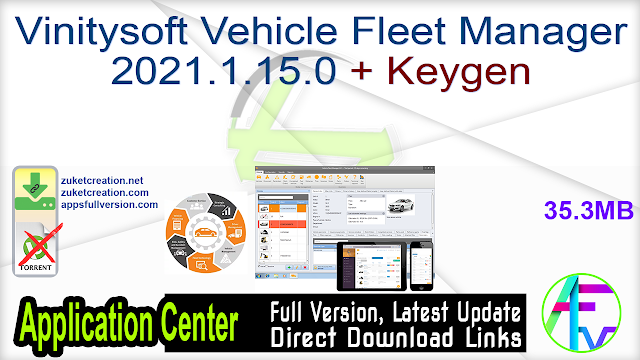 Vinitysoft Vehicle Fleet Manager 2021.1.15.0 + Keygen