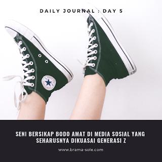 Seni Bersikap Bodo Amat Di Media Sosial Yang Seharusnya Dikuasai Generasi Milenial & Z