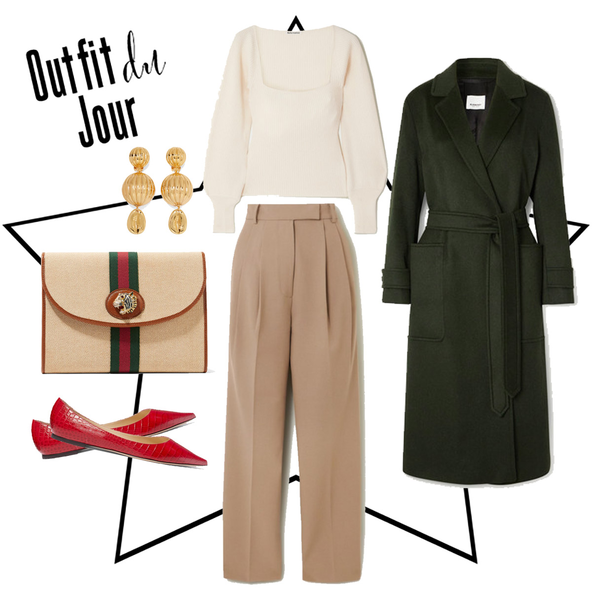 How to match your outfit to your Gucci Clutch