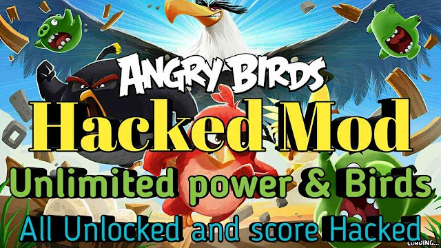 Angry bird mod Game unlimited Coins and power