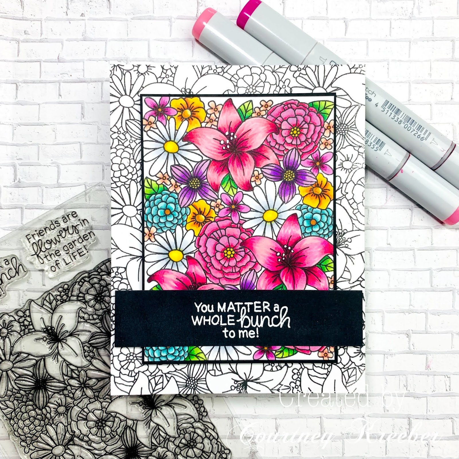 Blooming Botanicals Card by June Guest Designer Courtney Kreeber | Blooming Botanicals Stamp Set by Newton's Nook Designs #newtonsnook #handmade