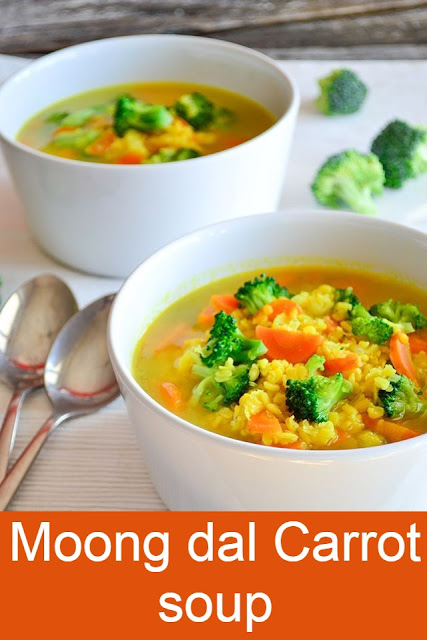 Moongdal and carrot soup