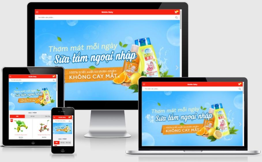 Theme blogspot bán đồ cho bé, mobile baby VSM26 - Ảnh 1