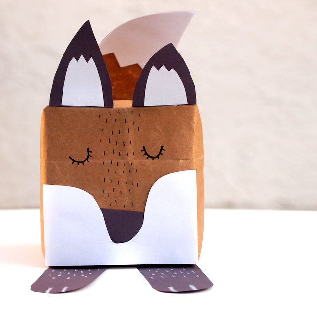 fox gift box- unique, quirky, and fun way to wrap birthday gifts!