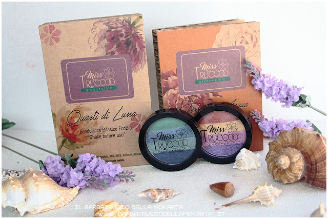 miss trucco eyeshadow palette ombretti terra  acqua  packaging terra acqua mix perfetto viola blu verde bronzo REVIEW