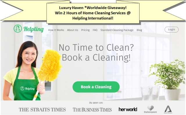helpling international home cleaning service giveaways