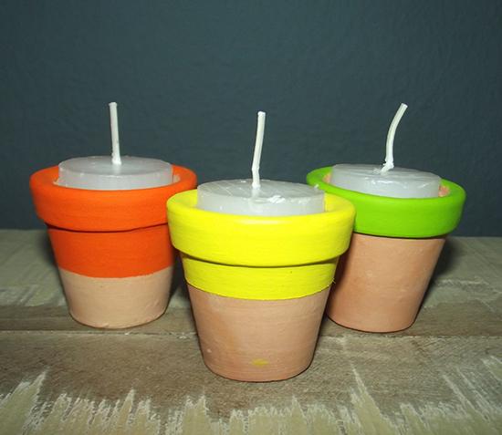 vasos de cerâmica pintados, faça você mesmo, diy, terracotta pot, porta velas, decoração, decoração festa, arranjo de mesa, enfeite, lembrancinhas