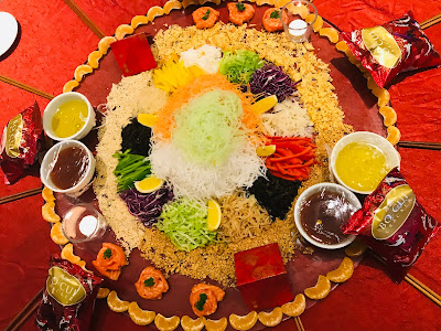 Media Tossed Prosperity 'Yee Sang' to Good Fortune at Avangio Hotel Kota Kinabalu