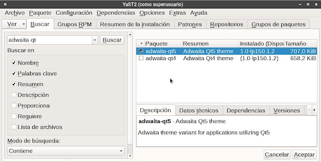 Instalación del Tema adwaita-qt5 para Kdenlive