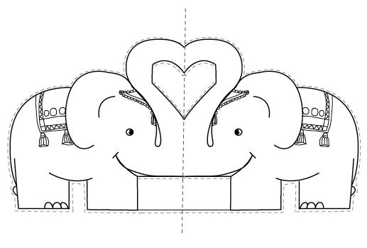 Les Mercredis De Julie Carte Pop Up Elephant