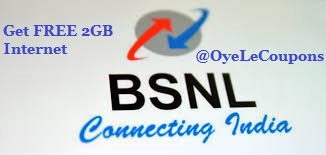 Get free 2GB Internet Data in Bsnl Gsm Sim