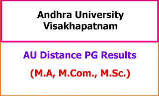 AU Distance PG Exam Results 2021