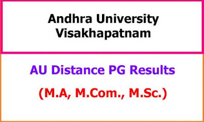 AU Distance PG Exam Results