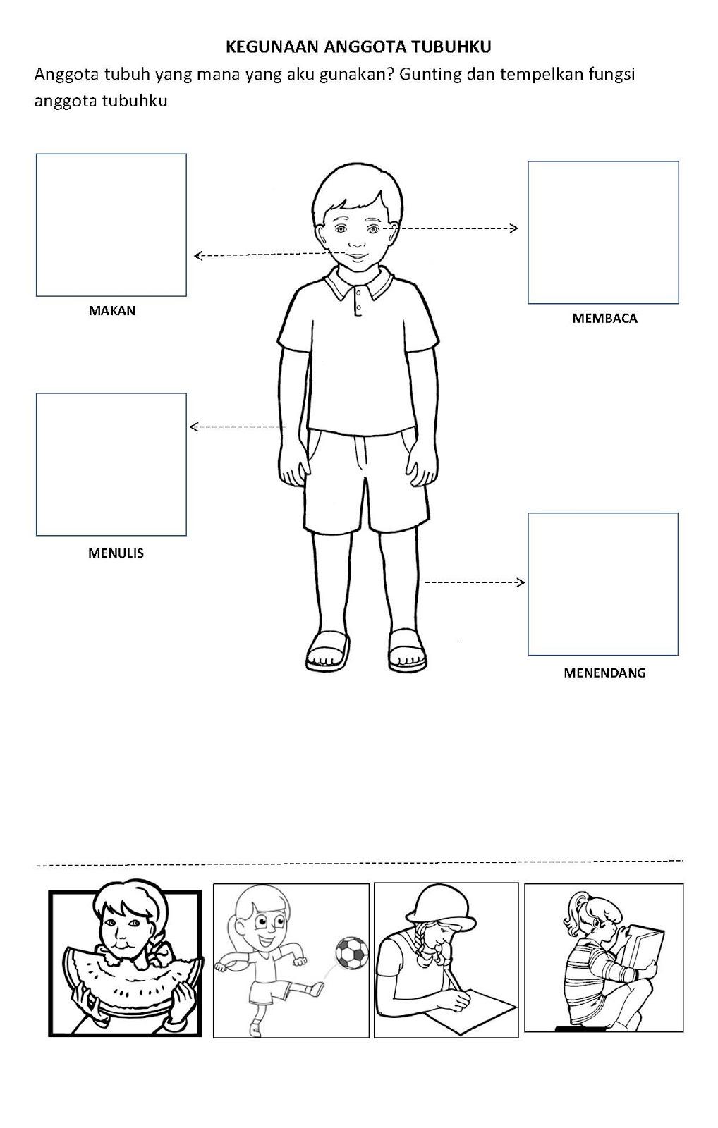 Worksheets Worksheet-anggota-tubuh im happy now in paud pendidikan anak usia dini preschool lks reaksi