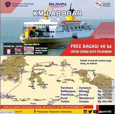 Kapal Pelni Labobar Jadwal Harga Tiket Desember 2020
