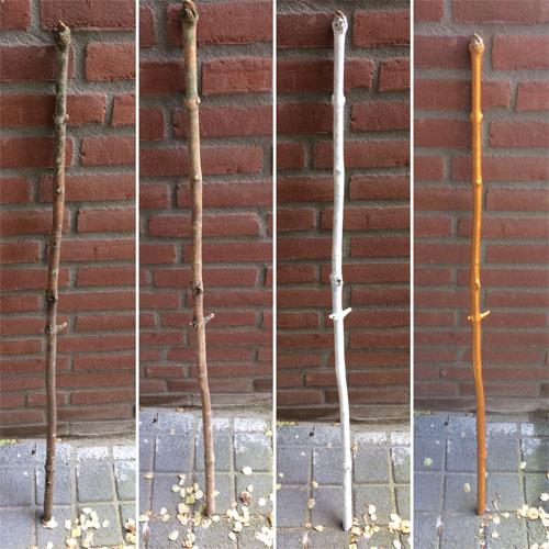 DIY tovenaarsstaf van houten stok verven