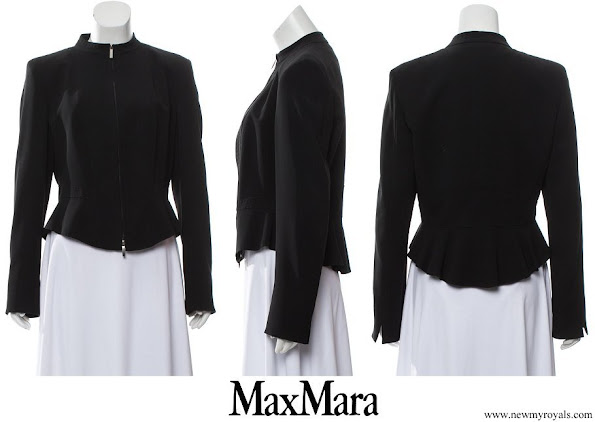 Crown Princess Mary wore Max Mara Structured Mock Neck Blazer