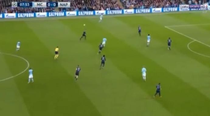 فيديو : مانشستر سيتي يفوز على نابولي 2 - 1 فى دورى ابطال اوروبا