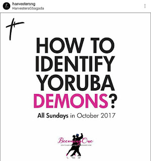"""Take it down!"" Nigerians blast Lagos church behind the viral ""How to Identify Yoruba Demon"" banner"