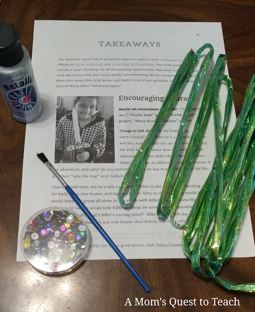 craft materials to make Elvish Sword from The Hobbit