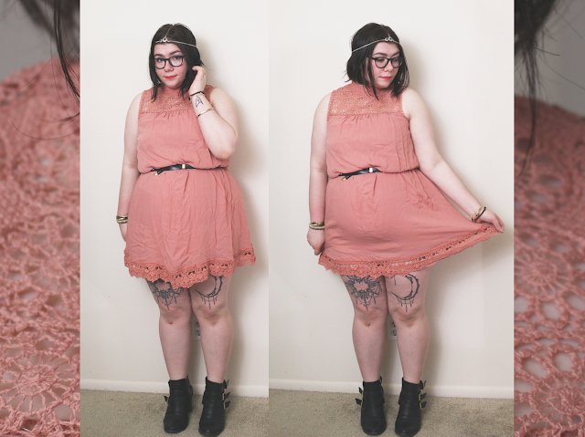 Pink dress, outfit, spring style