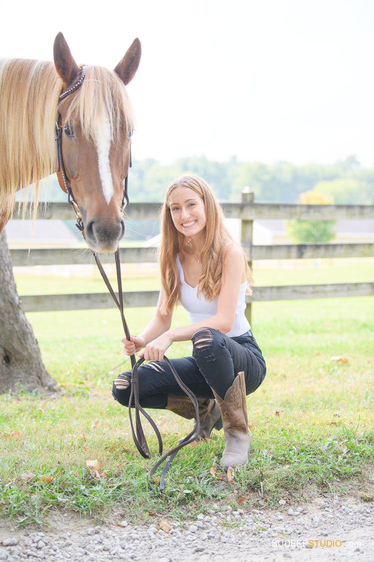 Senior Portraits with Horses Barn Dexter Ann Arbor SudeepStudio.com Senior Pictures Photographer