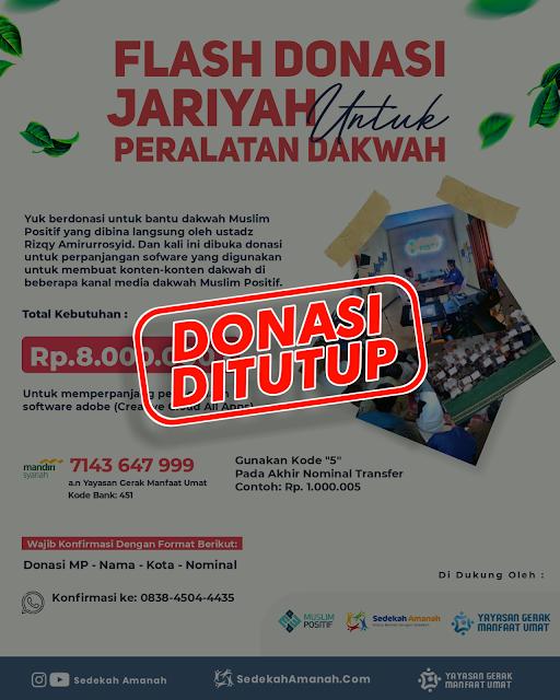 Donasi Peralatan Dakwah Muslim Positif