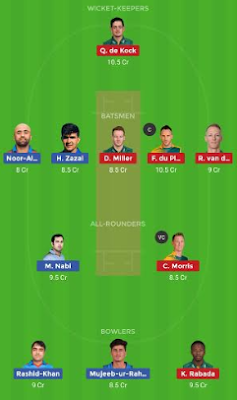 AFGH vs SA Dream 11 Team | SA vs AFGH