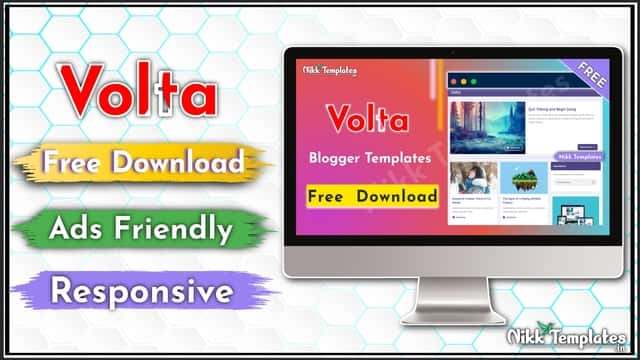 {Free} Volta - Responsive Blogger Templates - {Nikk Templates}