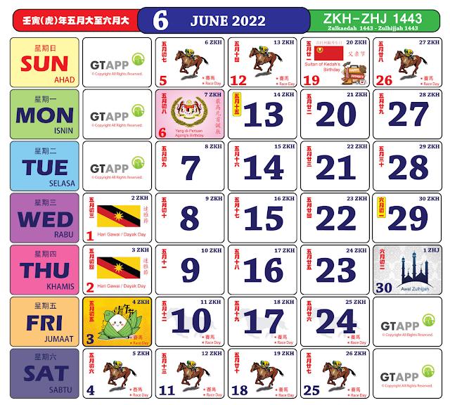 Kalender Jun 2022