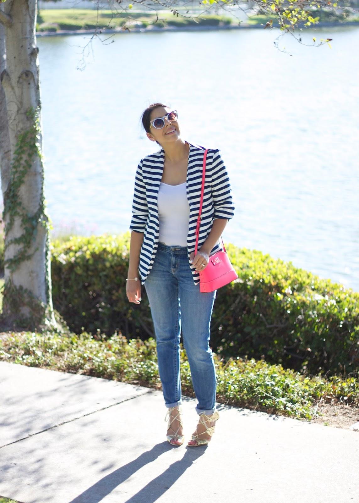 Striped Blazer, shein striped blazer, shein blogger, san diego fashion