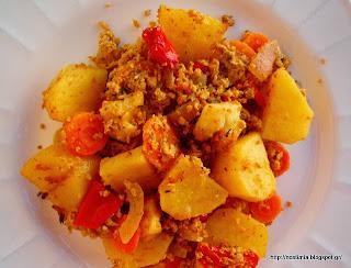 πατάτες φούρνου με κιμά σόγιας