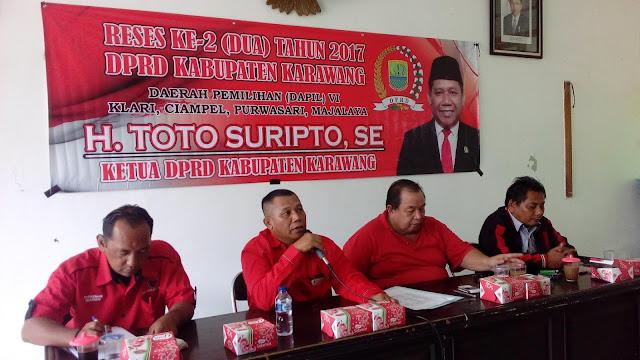 """Inilah Rencana Program Infrastruktur Ketua DPRD Karawang """"Kang Toto"""" di Tahun 2018"""