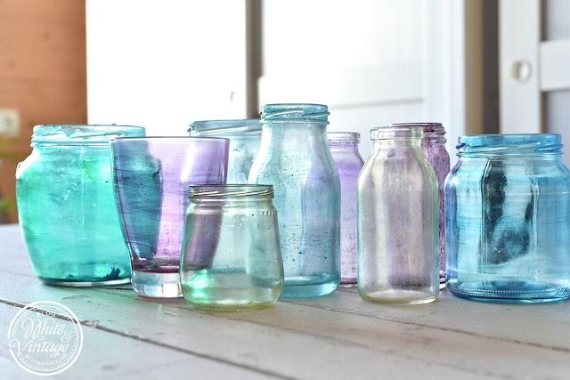 Transparent gefärbtes Altglas