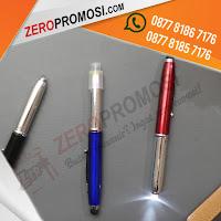 Souvenir pen senter besi model terbaru, Pen Besi 3in1 with stylus, Pen Metal grafir, Souvenir pulpen multifungsi