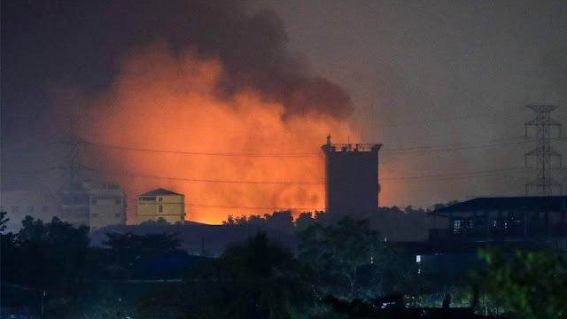 Myanmar Makin Ngeri! Pabrik China Dibakar, 39 Tewas