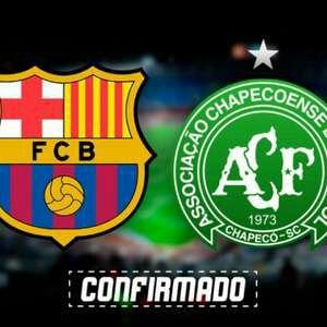 3c4a9511857cf Vai rolar! Chape confirma presença em amistoso com o Barcelona