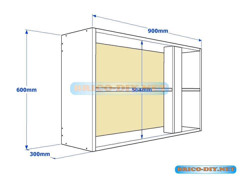 Muebles de cocina plano de alacena de melamina esquinera for Despensas de cocina a medida