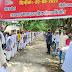 छात्रों ने रैली निकालकर मतदाताओं को किया जागरूक