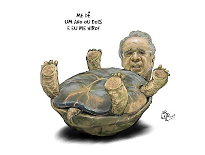 """Nunca vi ninguém explicar com tanta clareza o que deveria ser feito mas não vai ser feito para """"salvar"""" o Brasil como o ministro da Economia Paulo Guedes.  O homem é um gênio do inexequível!"""
