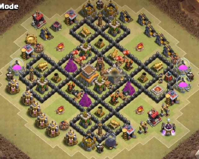 Base Town Hall 8 Clash of Clans War