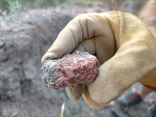 Cuarzo biterminado en matriz, Keuper de Chella, Valencia, España