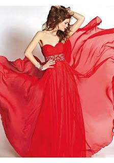 Serduszko czerwone Szyfon Sukienki studniówkowe modne sukienki na wesele