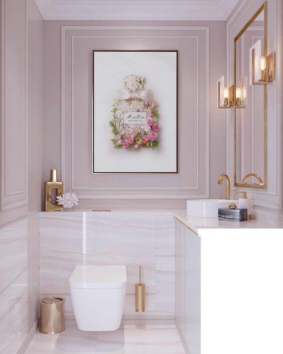 ambientes com boiserie banheiro