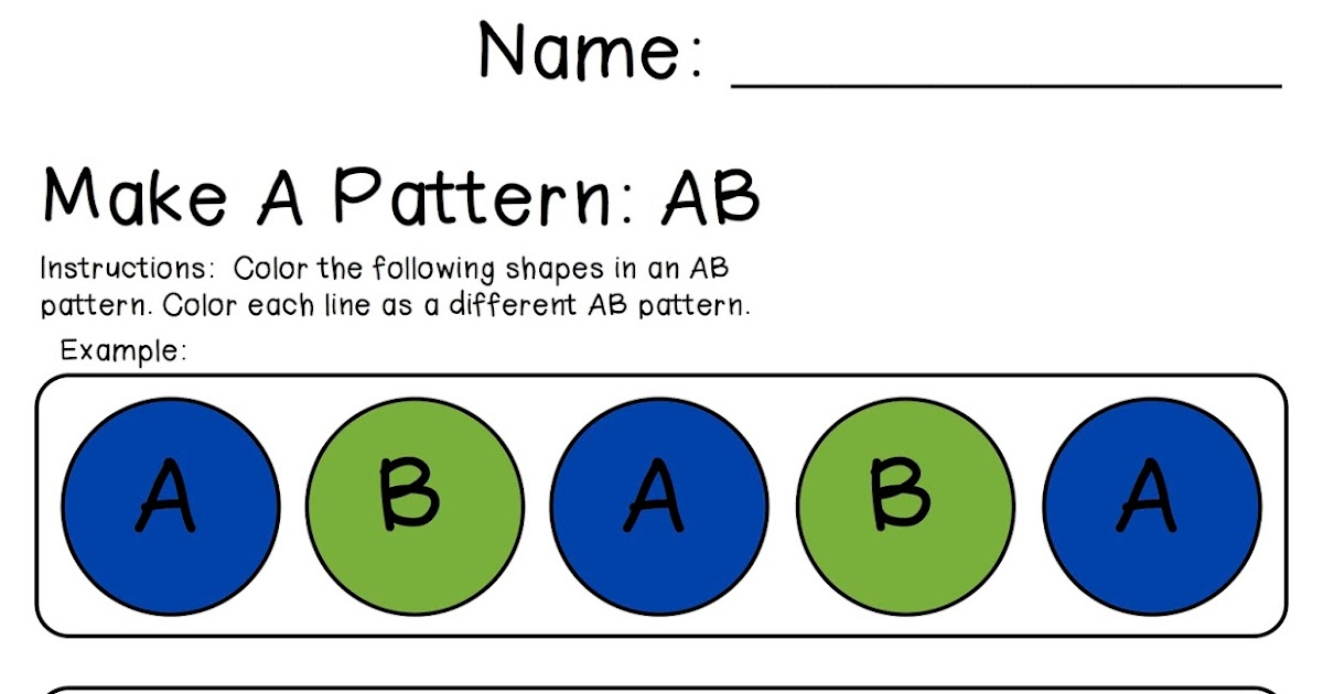 Classroom Freebies Too Make An AB Pattern Magnificent Ab Pattern