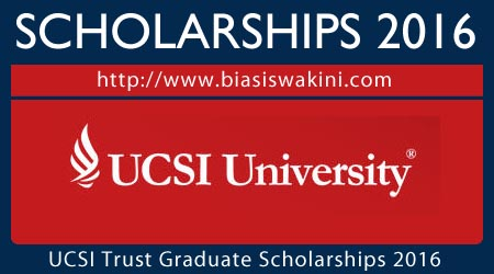 UCSI University Trust Graduate Scholarship 2016