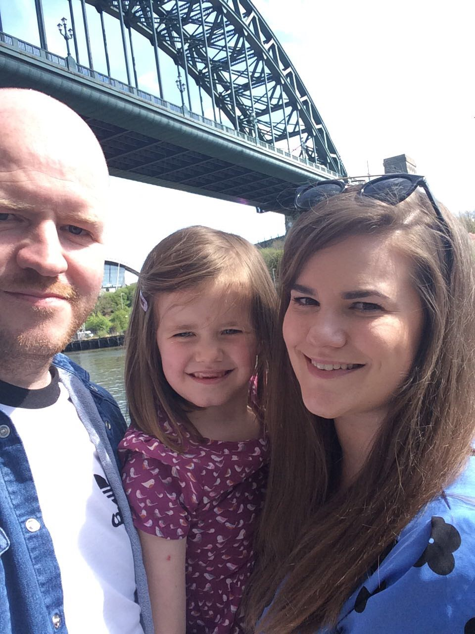Newcastle Quayside family selfie