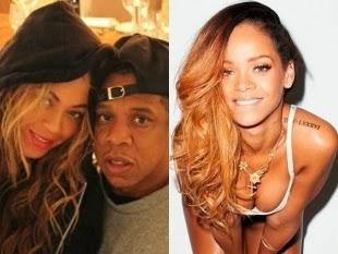 79819682c2670 Rihanna teria sido apontada como pivô da crise conjugal que Beyoncé e Jay Z  vêm enfrentando nos últimos meses. Isso porque rumores dão conta de que o  rapper ...